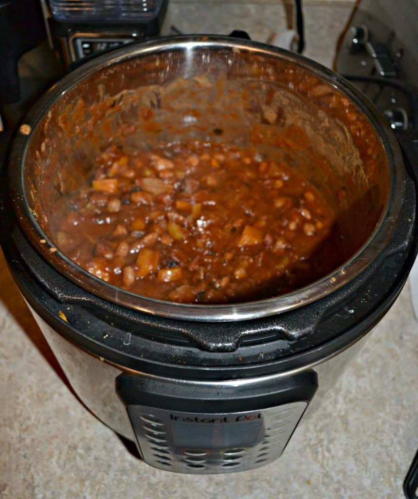 Instant Pot Steak and Beans makes a big portion so you can cook once and eat twice with this meal!