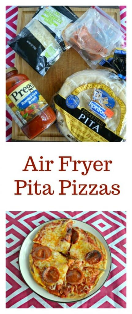 It's easy to make Air Fryer Pita Pizzas