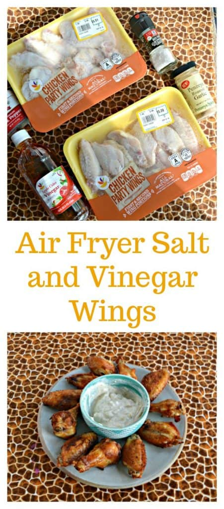 I can't get enough of these Air Fryer Salt and Vinegar Wings