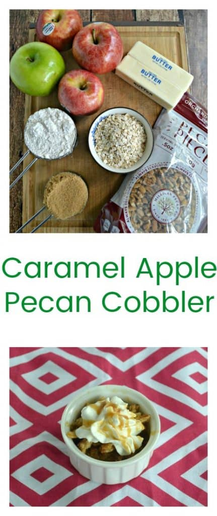 Make this simple yet delicious Caramel Apple Pecan Cobbler with crunchy oat topping