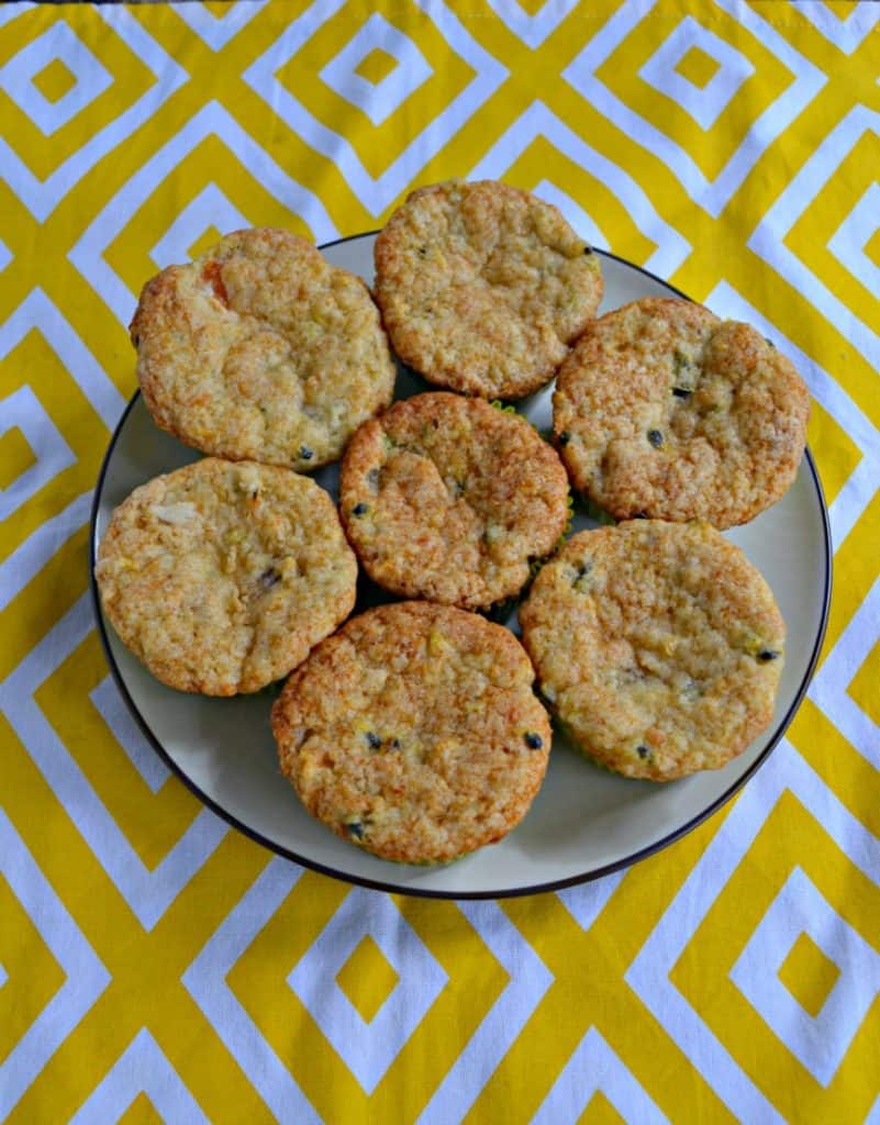 Fall is here but I wish I was on a tropical island....and you can be with these Banana, Papaya, and Passion Fruit Muffins!