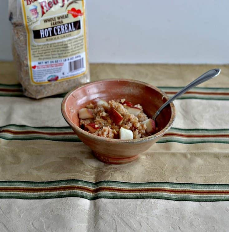 Hot Cereal with Brown Sugar, Cinnamon, and Apples