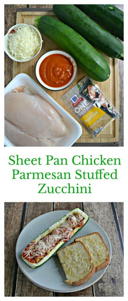 With only a handful of ingredients and just 30 minutes you can make Sheet Pan Chicken Parmesan Stuffed Zucchini