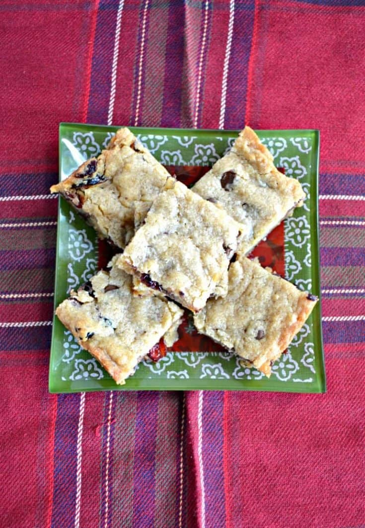 Looking for the perfect sweet and tart cookie for the holidays? Check out these Chocolate Cranberry Blondies!