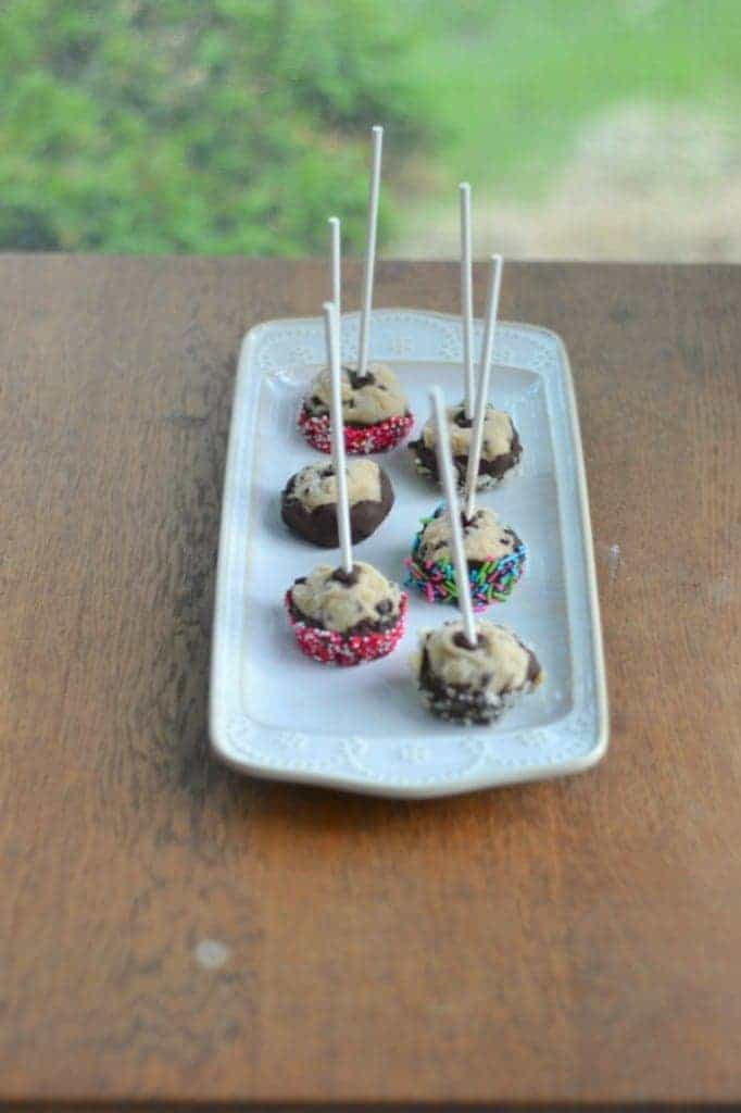 Chocolate Chip Cookie Dough Pops