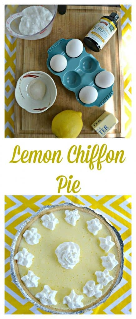 Want to know the secret to my flavorful and light as air Lemon Chiffon Pie? Click the link to find out what it is!