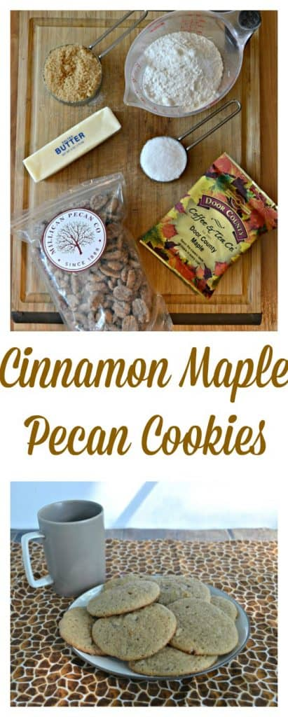 Nothing says fall like these Cinnamon Maple Pecan Cookies