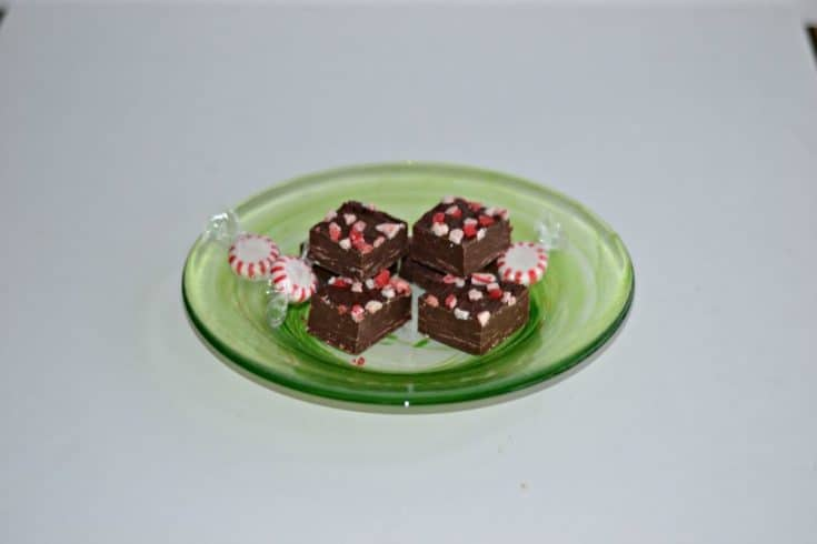 Peppermint Fudge #ChristmasinJuly