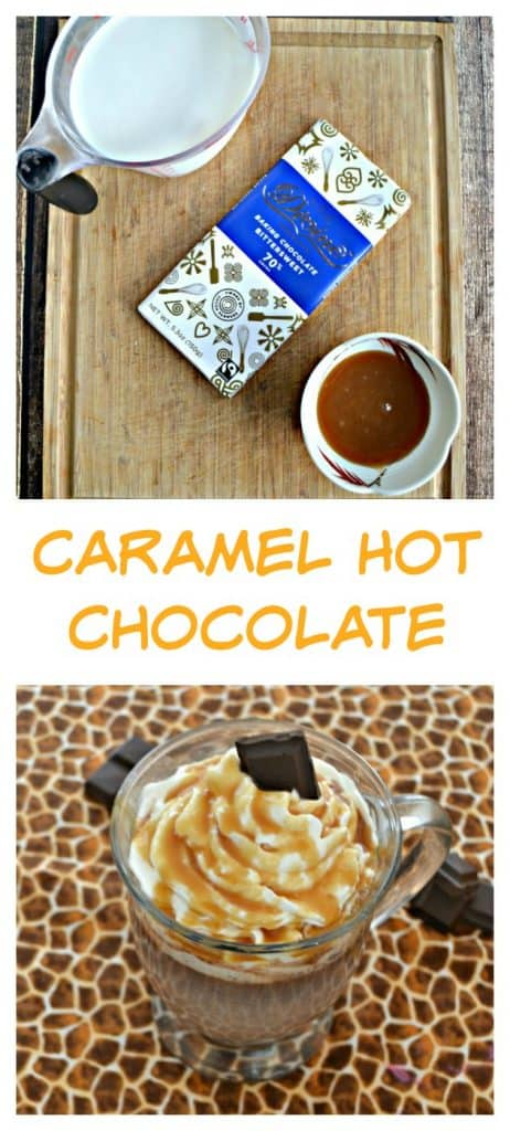 It's easy to make your own Caramel hot Chocolate at home