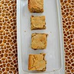 Cinnamon Roll Blondies #ChristmasCookies