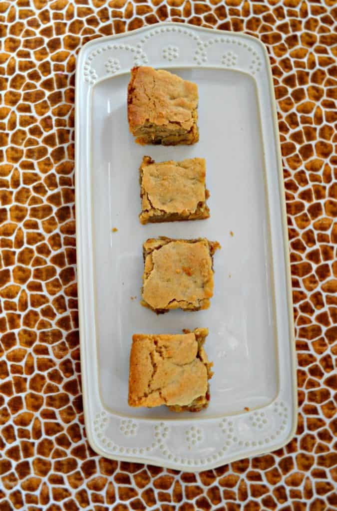 One bite of these Cinnamon Roll Blondies and you'll never want another cookie!