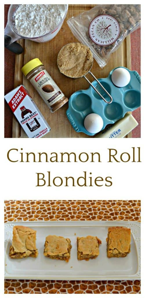 Cinnamon Roll Blondies are so easy to make!