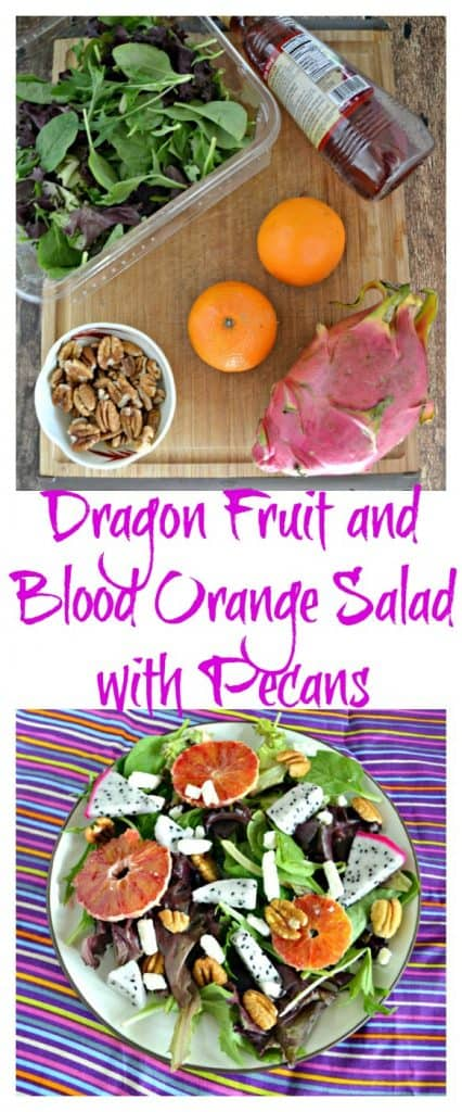 Everythign you need to make this easy and colorful Dragon Fruit with Blood Orange Salad!