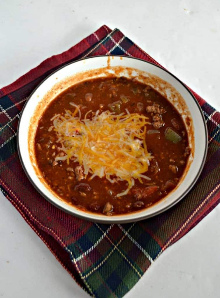 Garden Fresh Chili is great for Game Day or in the winter!