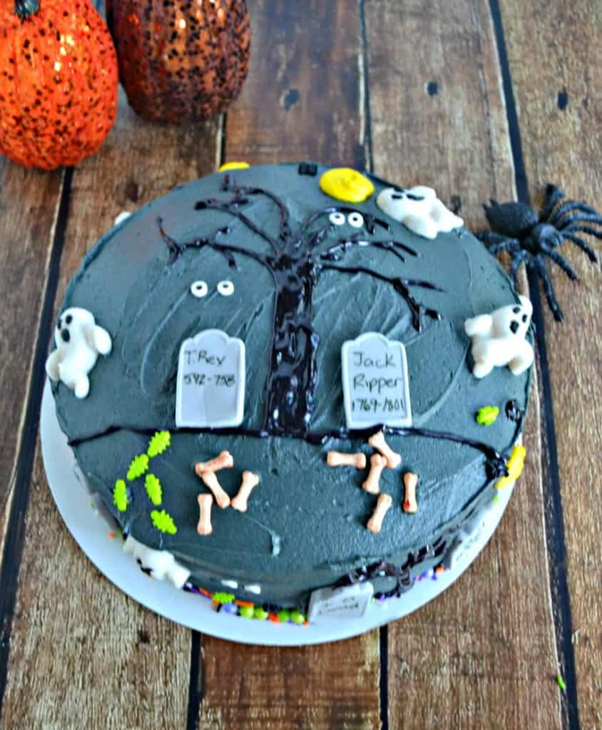 This Halloween make a Spooky Graveyard Layer Cake for dessert!