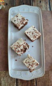 Mocha Brownies with Cafe Latte Frosting