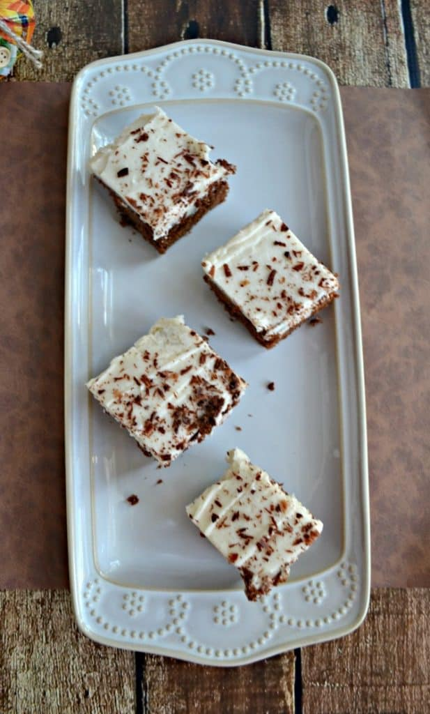 Grab a fork and dig into these Mocha Chocolate Brownies with Cafe Latte Frosting