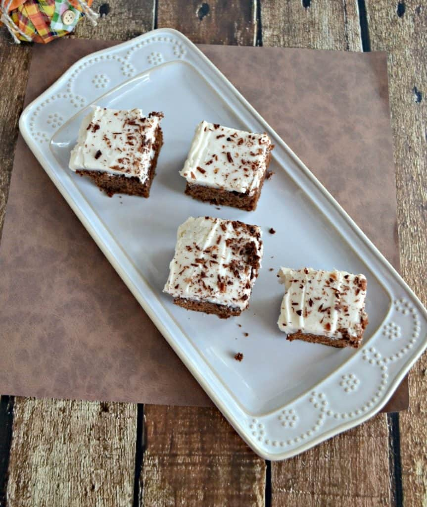 I love these rich Mocha Chocolate Brownies with Cafe Latte Frosting