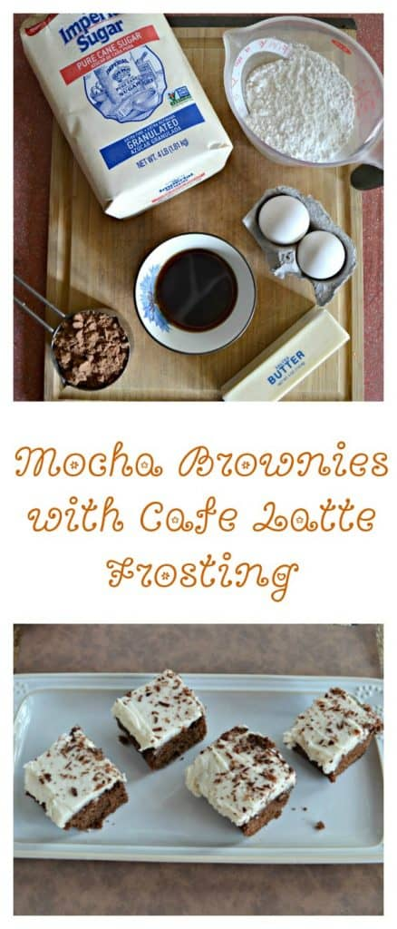 Everything you need to make Mocha Brownies with Cafe Latte Frosting