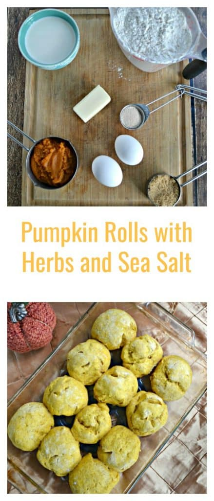 Pumpkin Rolls with Herbs and Sea Salt