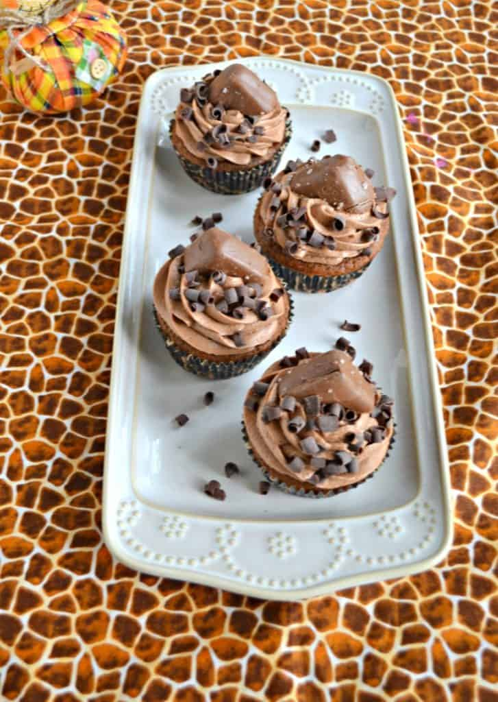 Like chocolate? Then you'll love these Triple Chocolate Cupcakes with chocolate buttercream.