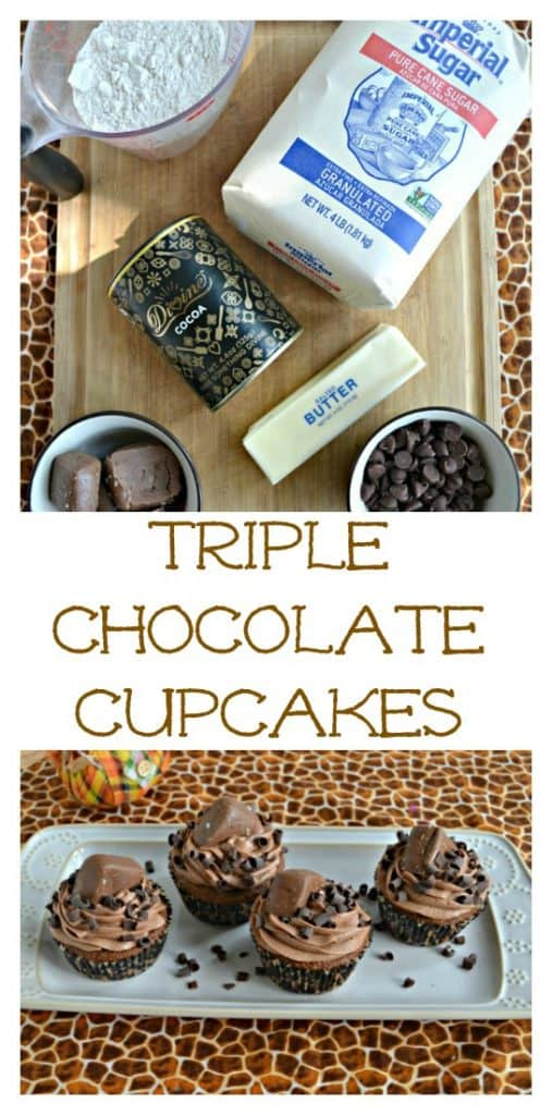 Take a bite out of these rich Triple Chocolate Cupcakes!