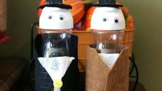 Thanksgiving Pilgrim Creamer Bottle Kids Craft
