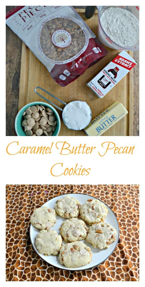 It's easy to make delicoius Caramel Butter Pecan Cookies