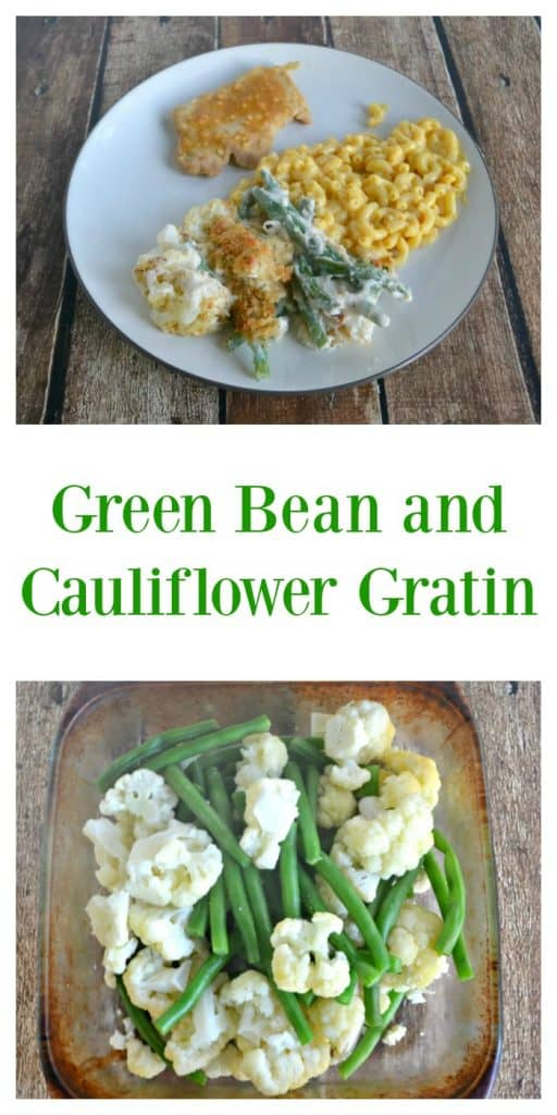 It's easy to make Green Bean and Cauliflower Gratin