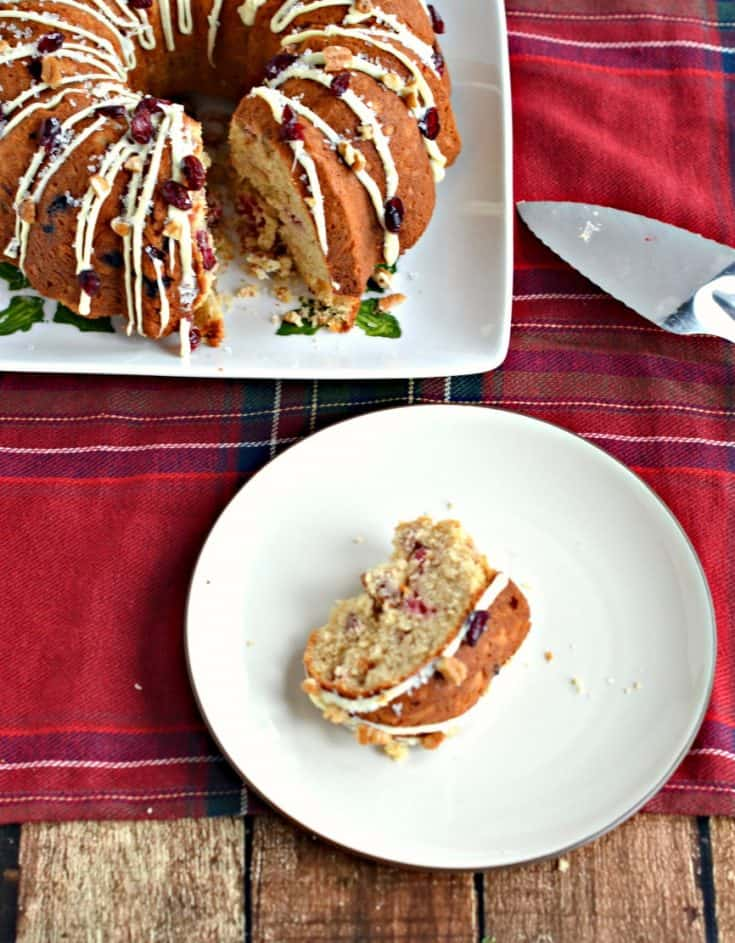 Dig in to this Cranberry Pecan Bundt Cake