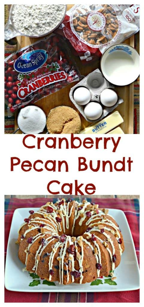 Ingredients for Cranberry Pecan Bundt Cake