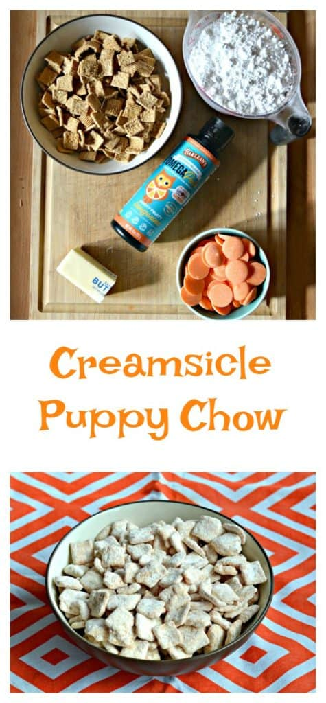 Everything you need to make Creamsicle Puppy Chow