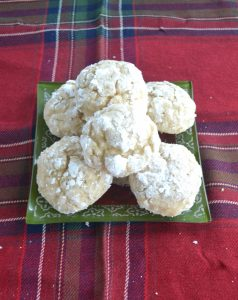 Eggnog Crackle Cookies #ChristmasCookies