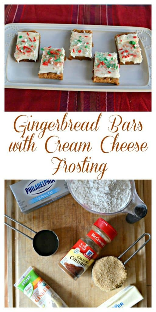 Everything you need to make Gingerbread Bars with Cream Cheese Frosting