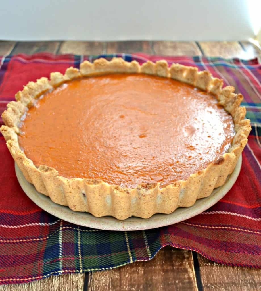Pecan Sandie crusted Pumpkin Pie