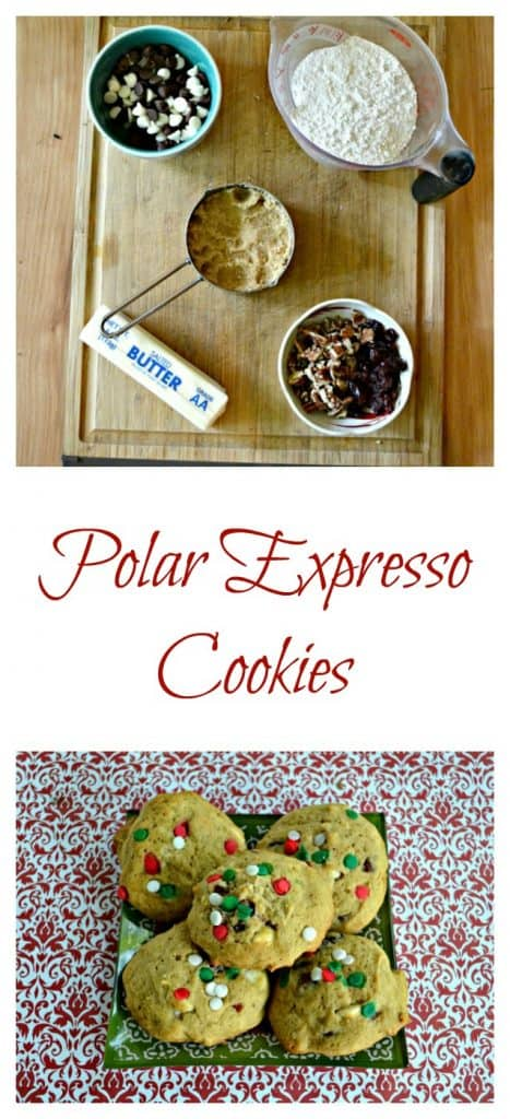 Everything you need to make Polar Expresso Cookies