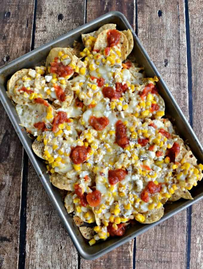 It doesn't get much better then these Mexican Street Corn Nachos
