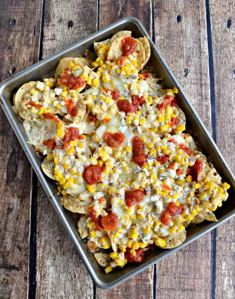 Grab a fork and dig into these Mexican Street Corn Nachos