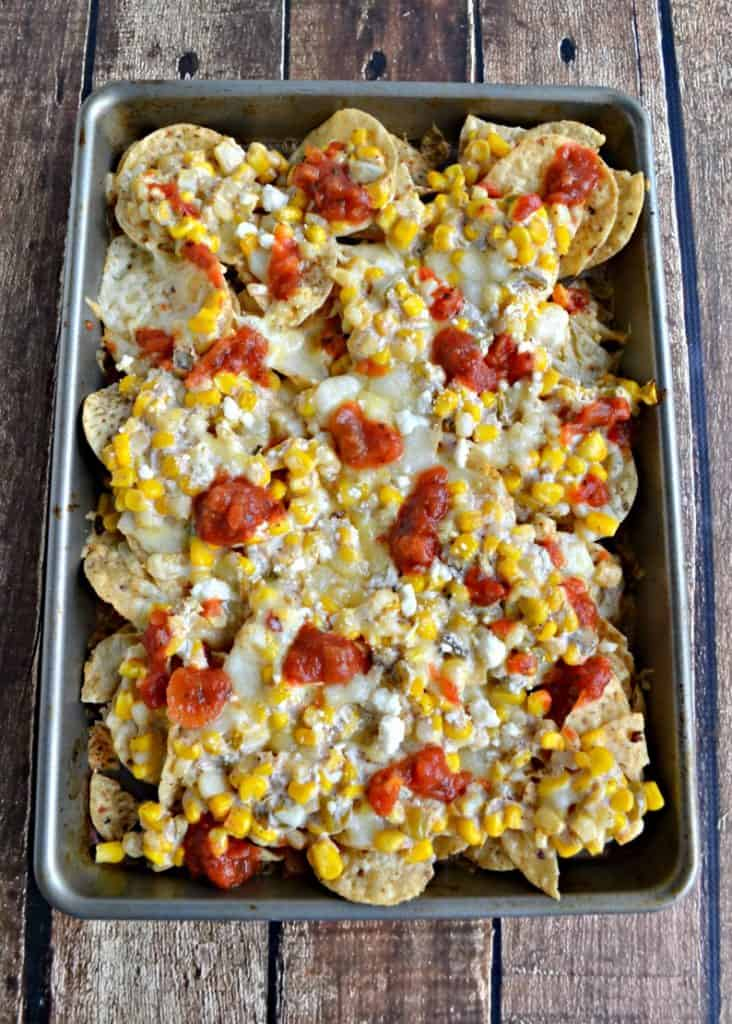 Try a pan of these Mexican Street Corn Nachos