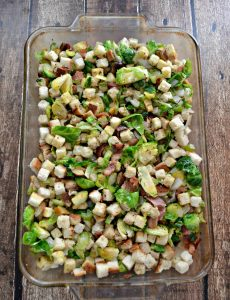 Bake Brussels Sprouts and Bacon Stuffing
