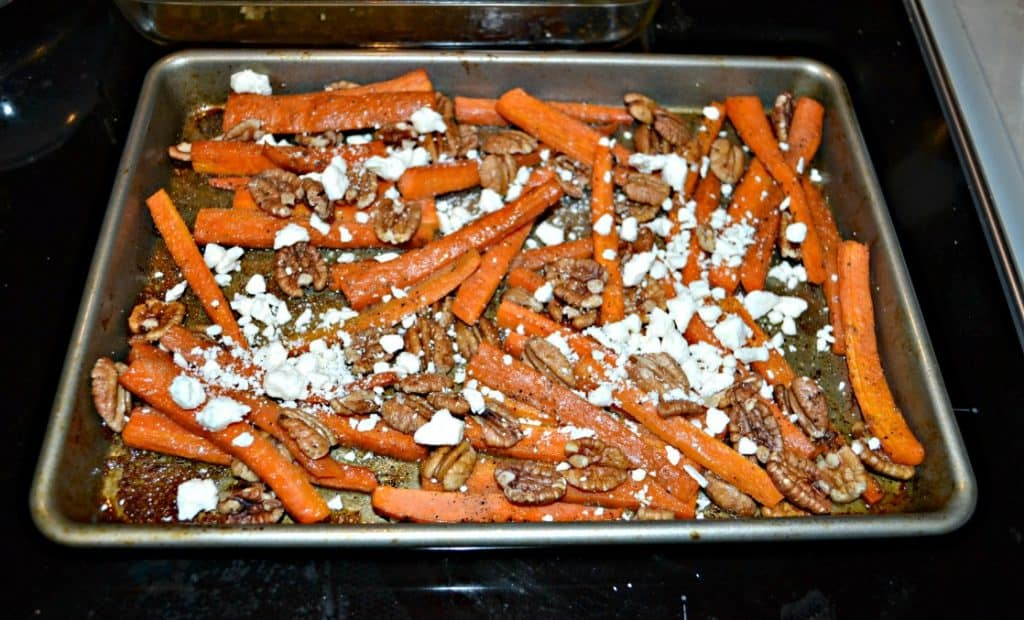 Roasted Carrots wit Goat Cheese and Pecans