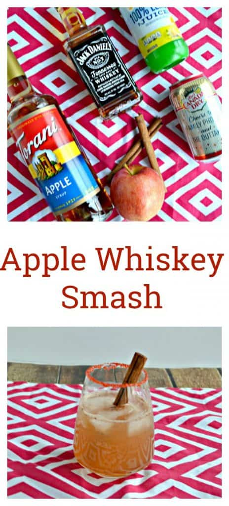 Everything you need to make an Apple Whiskey Smash