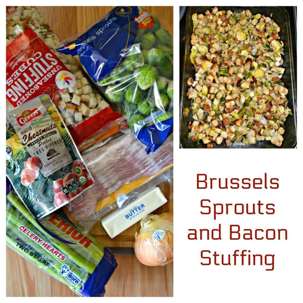 Everything you need to make Brussels Sprouts and Bacon Stuffing
