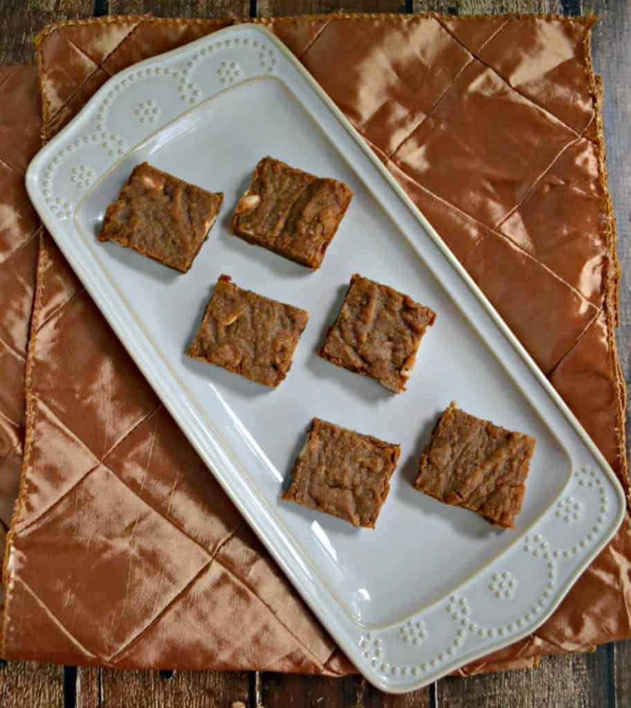Cinnamon Caramel Latte Blondies