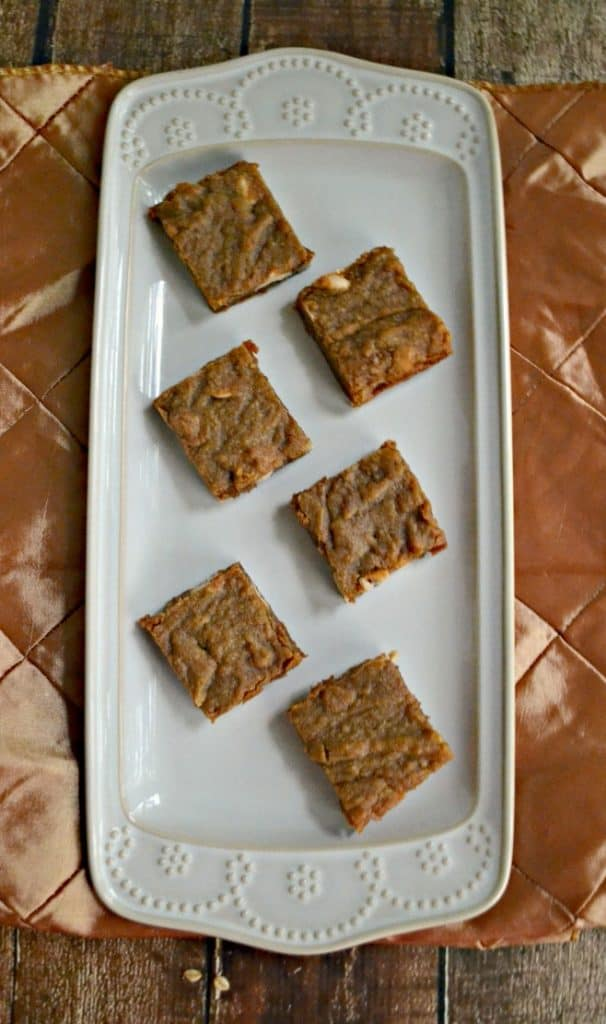Gooey Cinnamon Caramel Latte Blondies