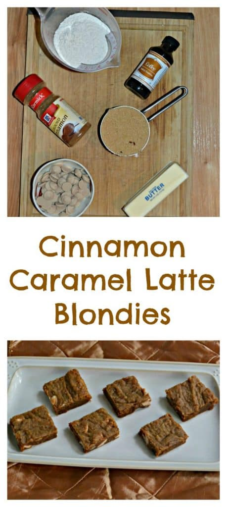 Everything you need to make Cinnamon Caramel Latte Blondies