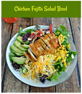 It's easy to make Chicken Fajita Salad