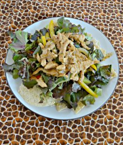 Nachos or a salad? Chicken Fajita Salads with Queso
