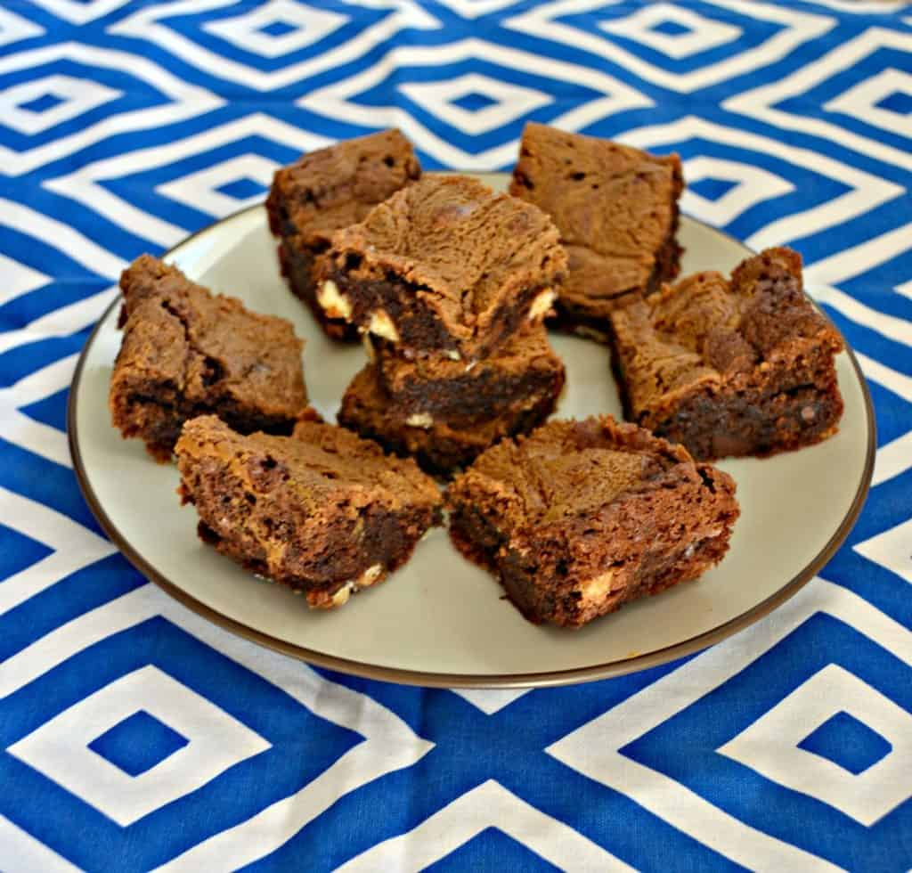 Cookie Butter Brownies with Triple Chocolate Chips