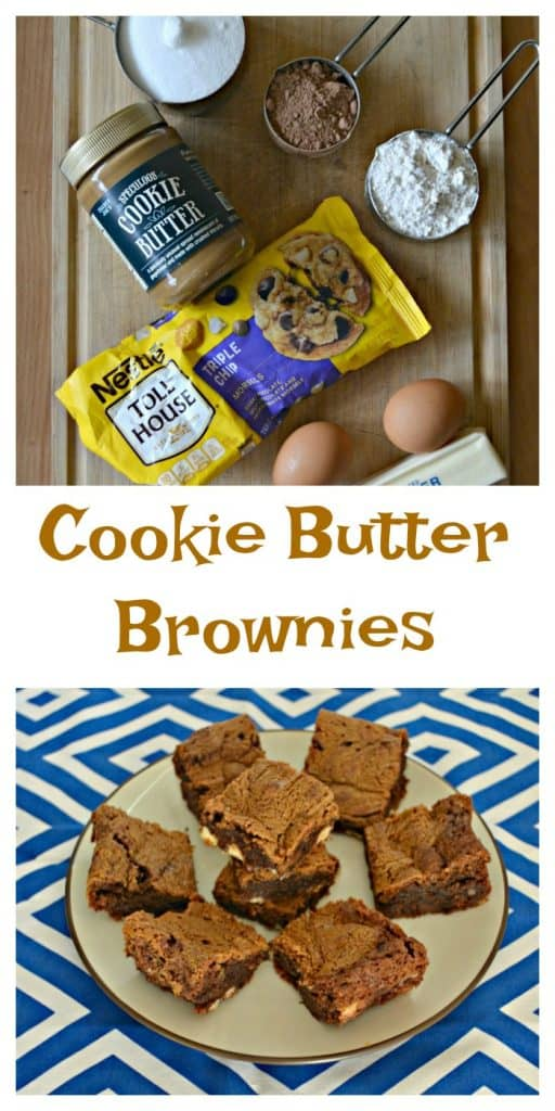 Everything you need to make Cookie Butter Brownies